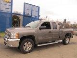 2013 Mocha Steel Metallic Chevrolet Silverado 1500 LT Extended Cab 4x4 #75924564