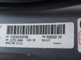 2013 200 Color Code for Billet Silver Metallic - Color Code: PSC