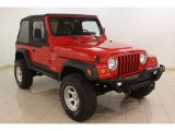 1999 Jeep Wrangler Flame Red