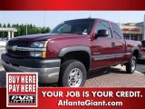 2003 Dark Carmine Red Metallic Chevrolet Silverado 2500HD LT Extended Cab #75925037