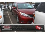 2011 Salsa Red Pearl Toyota Sienna LE #75977303