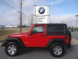 2010 Flame Red Jeep Wrangler Rubicon 4x4 #75977619