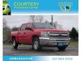 2012 Victory Red Chevrolet Silverado 1500 LS Crew Cab #75977696