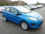 2013 Blue Candy Ford Fiesta SE Sedan #75977472