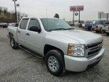 2011 Sheer Silver Metallic Chevrolet Silverado 1500 LS Crew Cab 4x4 #75977786