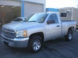 2012 Silver Ice Metallic Chevrolet Silverado 1500 LS Regular Cab #76018322