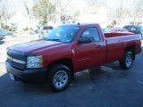 2008 Victory Red Chevrolet Silverado 1500 Work Truck Regular Cab #76018318