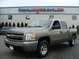 2008 Graystone Metallic Chevrolet Silverado 1500 LS Crew Cab 4x4 #76018269