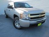 2009 Silver Birch Metallic Chevrolet Silverado 1500 LS Crew Cab #76017884