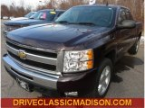 2009 Dark Cherry Red Metallic Chevrolet Silverado 1500 LT Extended Cab 4x4 #76018133
