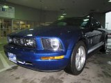2007 Vista Blue Metallic Ford Mustang V6 Deluxe Coupe #7595384