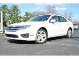 2010 Ford Fusion White Suede