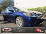 2013 Obsidian Blue Pearl Honda Accord LX Sedan #76017584