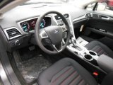 2013 Ford Fusion SE 1.6 EcoBoost SE Appearance Package Charcoal Black/Red Stitching Interior
