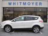 2013 White Platinum Metallic Tri-Coat Ford Escape SEL 2.0L EcoBoost 4WD #76018106