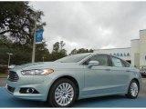 2013 Ice Storm Metallic Ford Fusion Hybrid SE #76017744