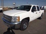 2013 Summit White Chevrolet Silverado 1500 LS Crew Cab 4x4 #76017982