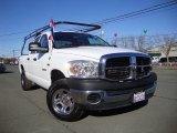 2008 Bright White Dodge Ram 1500 ST Quad Cab 4x4 #76072327