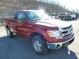 2013 Ruby Red Metallic Ford F150 XLT Regular Cab 4x4 #76072037