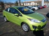 2013 Lime Squeeze Ford Fiesta SE Sedan #76072028