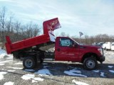 2012 Vermillion Red Ford F350 Super Duty XL Regular Cab 4x4 Dump Truck #76071910