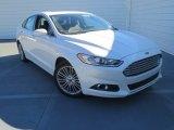 2013 White Platinum Metallic Tri-coat Ford Fusion SE 1.6 EcoBoost #76072171