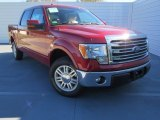 2013 Ruby Red Metallic Ford F150 Lariat SuperCrew #76072169