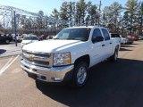 2013 Summit White Chevrolet Silverado 1500 LT Crew Cab 4x4 #76072420