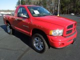 2004 Flame Red Dodge Ram 1500 SLT Regular Cab 4x4 #76072377