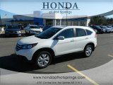 2013 White Diamond Pearl Honda CR-V EX-L AWD #76157828