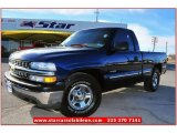 2002 Indigo Blue Metallic Chevrolet Silverado 1500 Work Truck Regular Cab #76127472