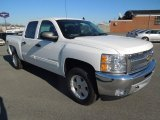 2013 Summit White Chevrolet Silverado 1500 LT Crew Cab 4x4 #76224383