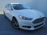 2013 White Platinum Metallic Tri-coat Ford Fusion Titanium #76224188