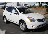 2013 Pearl White Nissan Rogue SV #76278694