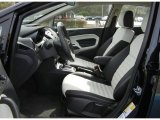 2013 Ford Fiesta Titanium Sedan Arctic White Leather Interior