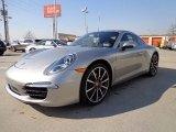 2013 Porsche 911 Platinum Silver Metallic