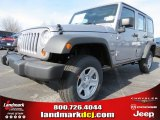 2013 Billet Silver Metallic Jeep Wrangler Unlimited Sport 4x4 #76332653