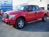 2010 Vermillion Red Ford F150 STX SuperCab 4x4 #76332514