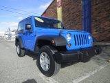 2011 Cosmos Blue Jeep Wrangler Sport 4x4 #76333196