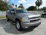 2008 Graystone Metallic Chevrolet Silverado 1500 LTZ Extended Cab 4x4 #76332906