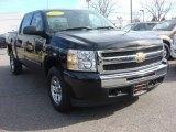 2009 Black Chevrolet Silverado 1500 LT Crew Cab 4x4 #76332466