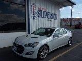 2013 White Satin Pearl Hyundai Genesis Coupe 3.8 Track #76332543