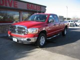2006 Flame Red Dodge Ram 1500 SLT Quad Cab 4x4 #76333124