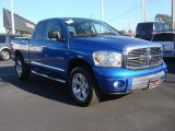 2008 Electric Blue Pearl Dodge Ram 1500 Laramie Quad Cab 4x4 #76333098