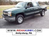 2005 Dark Green Metallic Chevrolet Silverado 1500 LS Crew Cab 4x4 #7636621