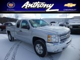 2013 Silver Ice Metallic Chevrolet Silverado 1500 LT Extended Cab 4x4 #76389530