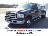 2005 Black Ford F350 Super Duty XLT Crew Cab 4x4 Dually #7636616