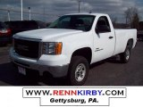 2007 Summit White GMC Sierra 2500HD Regular Cab #7636627