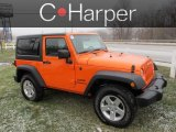 2012 Crush Orange Jeep Wrangler Sport S 4x4 #76389464