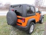 Crush Orange Jeep Wrangler in 2012